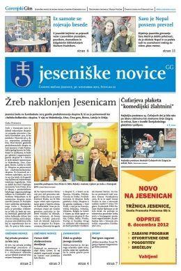 Jeseniške novice, 30. nov 2012, št.22