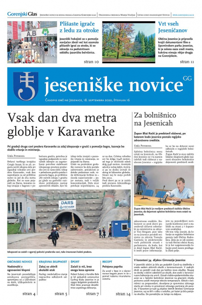 Jeseniške novice, 18. september 2020-16