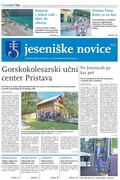 Jeseniške novice, 27. september 2019-14