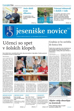Jeseniške novice, 14. september 2018-13
